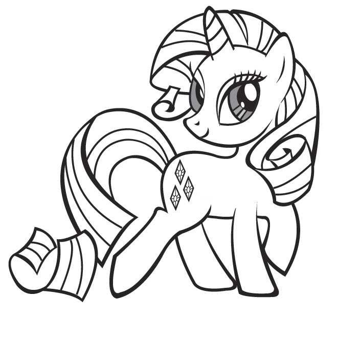 Coloriage Petit Poney