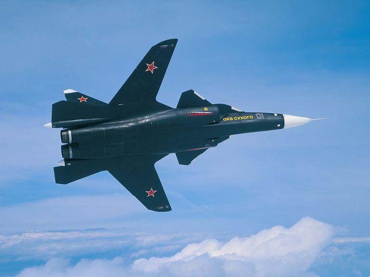 The inverted-wing Sukhoi Su-47 Berkut