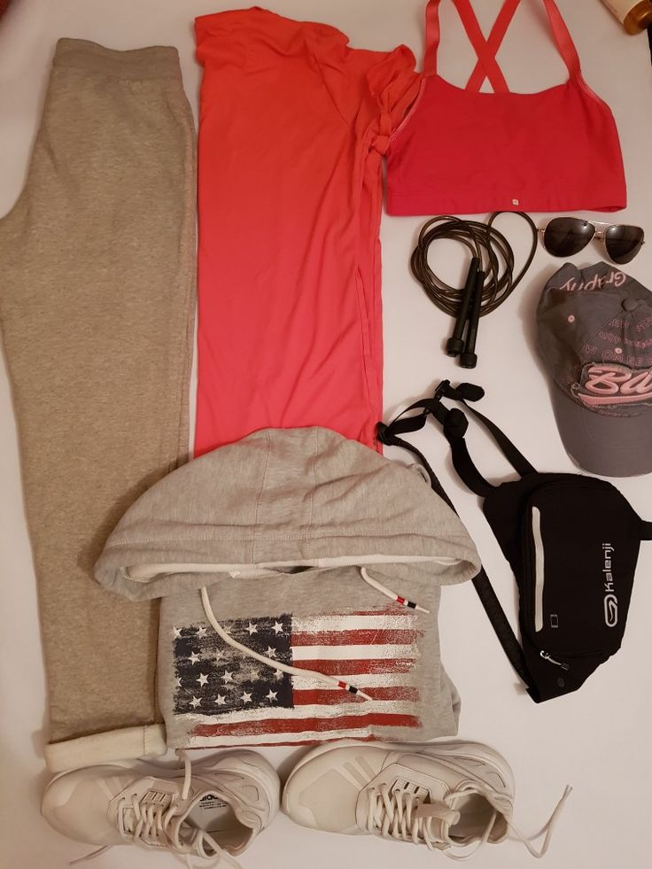 Run active women s jogging   ADIDAS shoes size 38 Women hooded jacket grey  FB SISTER size xl Women s running winter pants grey Adult short sleeve UV protection running top T shirt pink DECATHLON   Sportance confort running bra pink Running chest strap multifunction DECATHLON Adult hat grey Sunglasses Adult skipping rope black