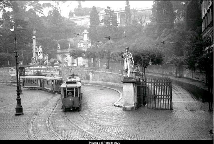 ROMA Sparita -ARCHIVIO ATAC PIAZZA DEL POPOLO 1929