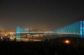 Puente Del Bósforo, Puente, Noche, Luces