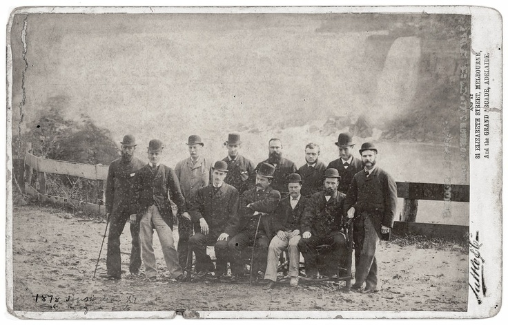 History of cricket. The first Australian touring team (1878) pictured at Niagara Falls  The first ever international cricket game was between the USA and Canada in 1844. The match was played at the grounds of the St George's Cricket Club in New York. In 1859, a team of English cricketers set off to North America. In 1862, the first English team toured Australia. Between May and October 1868, a team of Australian Aborigines toured England as the first Australian cricket team to travel…