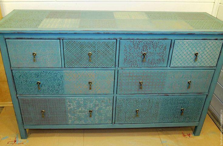 """Купить Комод """"Краски времени-2"""" - разноцветный, состаренная мебель, мебель для дома, винтаж, комод"""