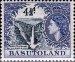 Basutoland 1954 SG 47 Queen Elizabeth Maletsuntane Falls Fine Mint Scott 50 Other African Stamps HERE