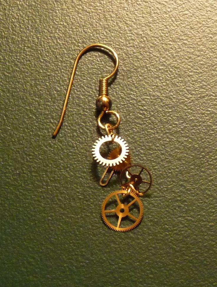 Gearrings:  Steampunk Earrings Tutorial