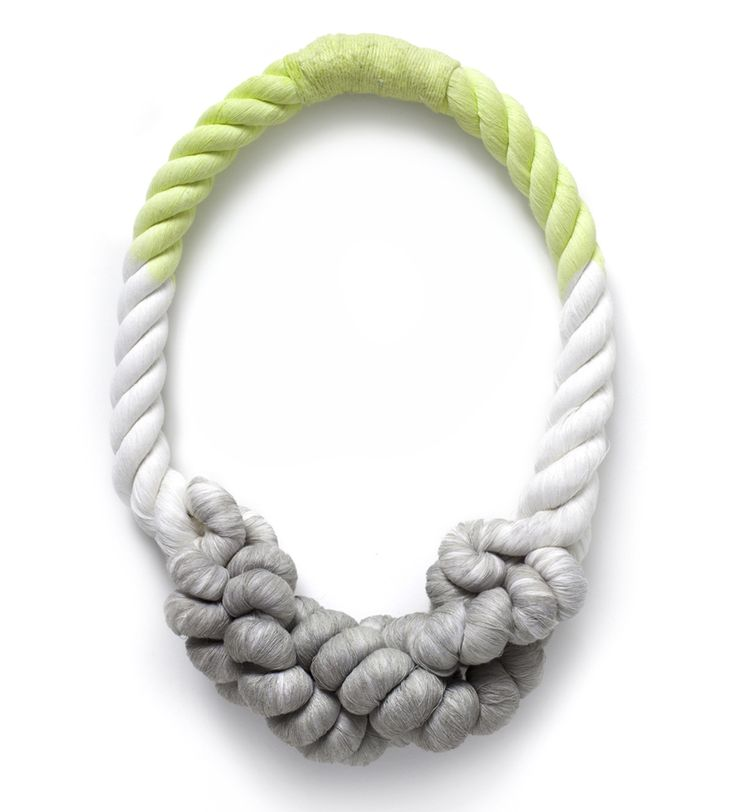 Tanya Aguiñiga's custom-made rope necklaces from sight unseen