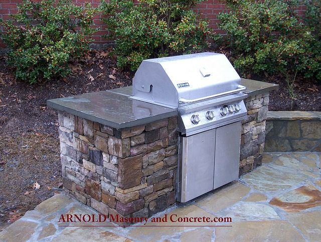 Atlanta stone patio luxury outdoor kitchen luxury outdoor kitchen #luxury #outdoor_kitchen