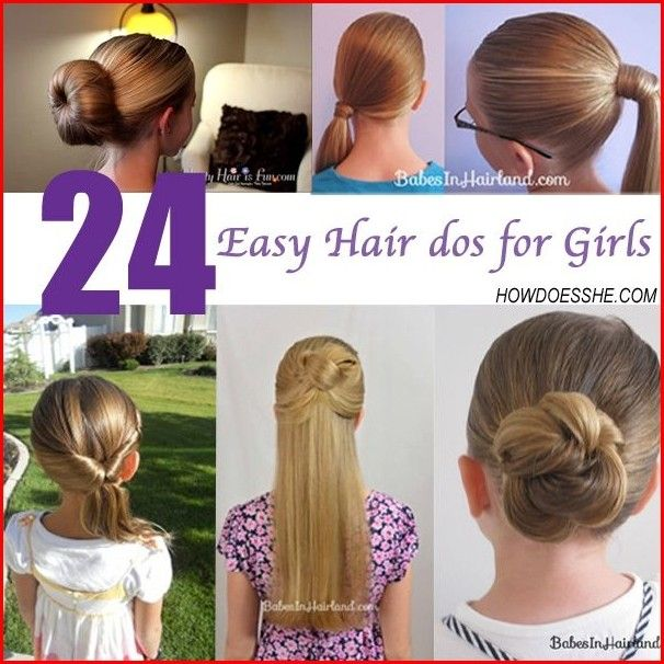 Cute Hairstyles For Little Girls With Quick And Easy Method Easy Hair Dos Easy Hairstyles Hair Dos
