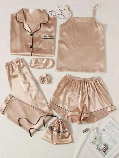 Satin Pj Set, Satin Pyjama Set, Satin Pajamas, Pajama Set, Cute Sleepwear, Sleepwear Women, Pajamas Women, Cute Pijamas, Silk Pijamas