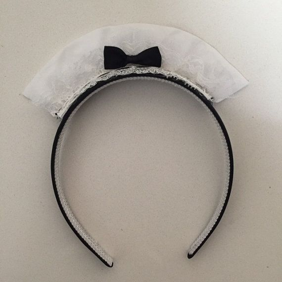 French Maid headband by CelebrateWithBridget on Etsy