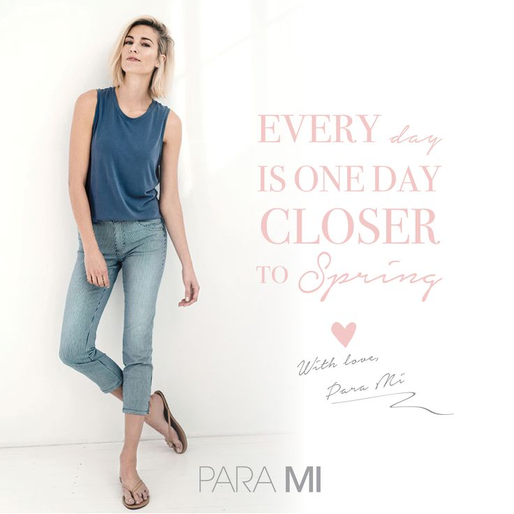 Every day is one day closer to spring- Quote - Para Mi