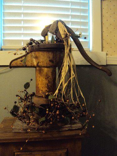 Hand pump decor: Antiques Primitives, Primitives Antiques, Antiques ️, Passion Primitives, Hand Pumps, Water Pump, Antiques Bought, Country Primitives