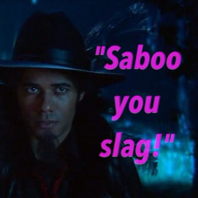 "The Mighty Boosh "" Saboo you slag!"" #themightyboosh #tonyharrison #noelfielding"