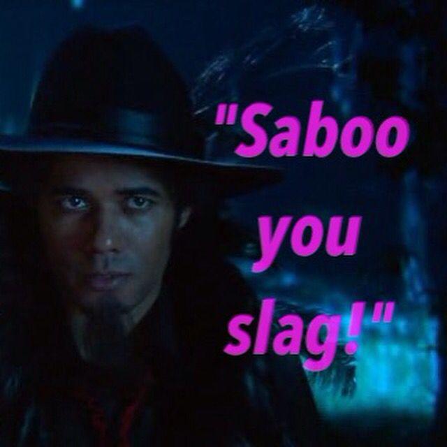 "The Mighty Boosh "" Saboo you slag!"" #themightyboosh #tonyharrison #noelfielding"