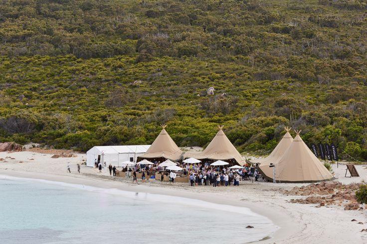 Margaret River Gourmet Escape - Beach Tipi set up - THE ZEST GROUP WA - www.thezestgroupwa.com.au