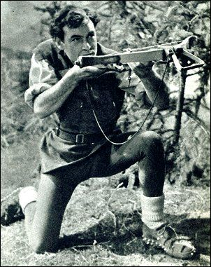 "Conrad Phillips as TV's ""William Tell"", ""with the thrust of a pike and the clash of steel""."