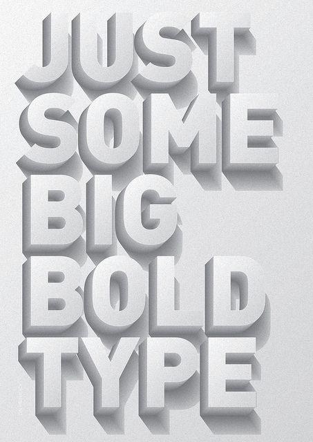 Typographic Poster by Stefano Agabio