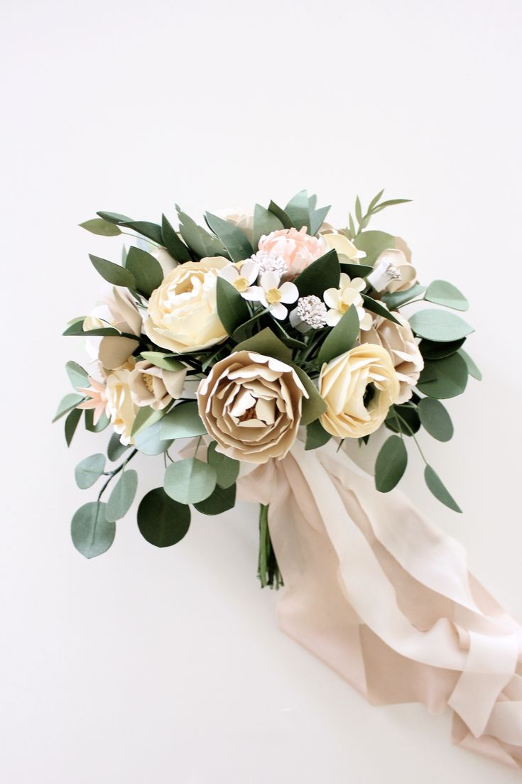 Paper Flower Bridal Bouquet — Handmade by Sara Kim