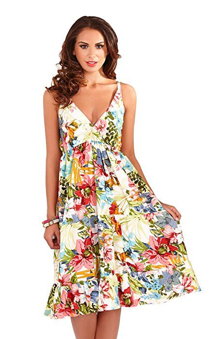 Polyester Summer/Beach Floral Dresses for Women