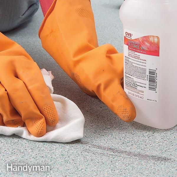 how to get rid of stains on vinyl flooring