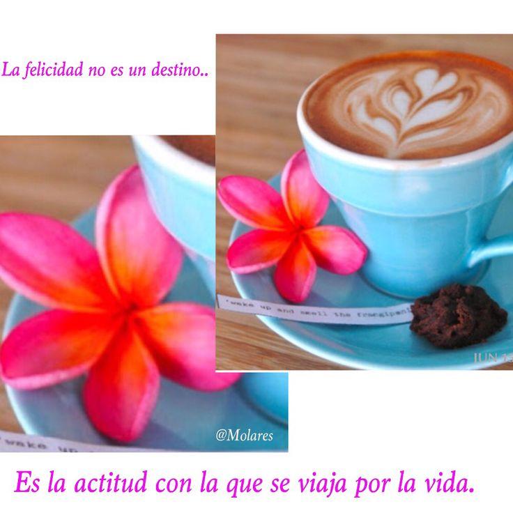 La felicidad no es un destino.. Es la actitud con la que se viaja por la vida!