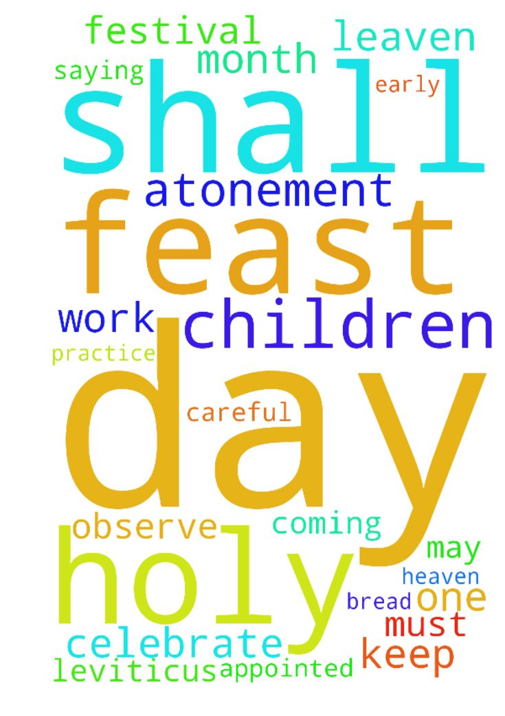 God's Holy Days -  Dear Father in Heaven, I pray that all Christian brothersand sisters may honour and celebrate Gods Seven Holy days. I pray that we all may be discerning enough to distinguish these sacred festivals from nonbiblical ritualssuch as Christmas, Easter and Valentines Day, plus other pagan practices that infiltratedthe early Church. Let us always remember Gods Word . . . So be careful to obey all the commands I give you. You must not add anything to them or subtract anything…
