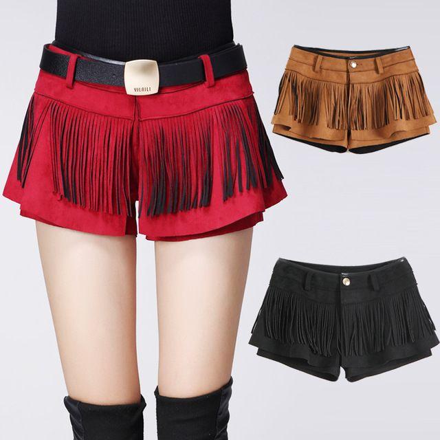 jupe culotte courte en matire daim jupe culotte en suedine