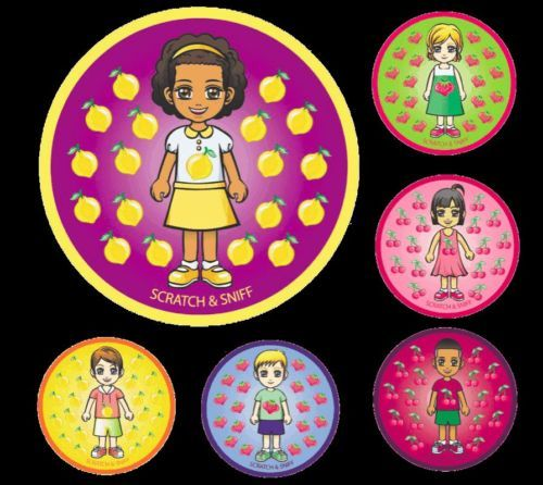 SCRATCH AND SNIFF MERIT STICKERS (Pack of 72) - A positive approach to learning
