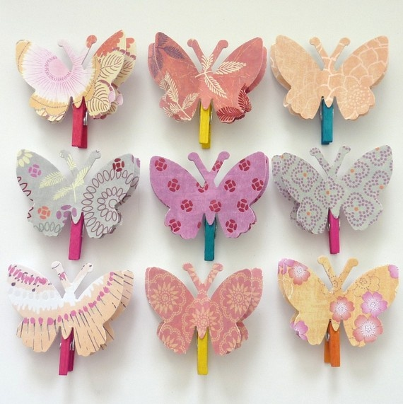 Butterfly paper pins