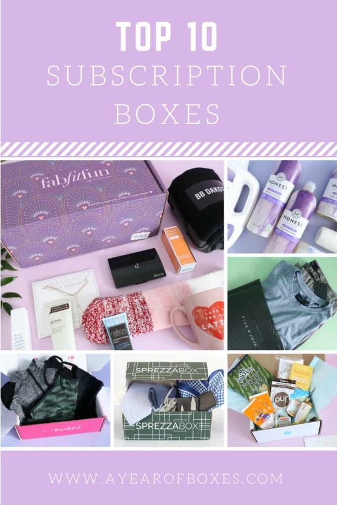 Top 10 Subscription Boxes https://www.ayearofboxes.com/subscription-boxes/top-10-subscription-boxes/