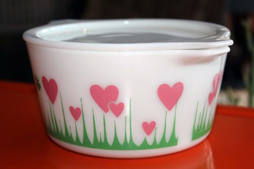 Lucky in Love Vintage Pyrex RARE Unique RAREST of The RARE Mid Century Die