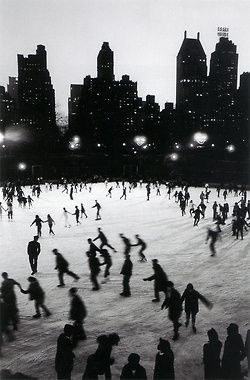 creta:      Ice Skating in Central Park at the Wollman Rink. Photo by Bruno Barbey.    One of my favorite things. Its been far too long