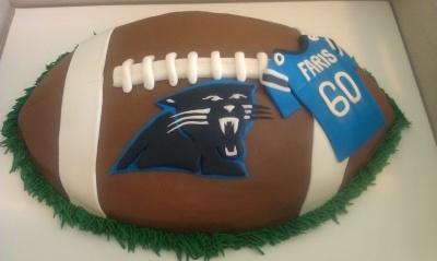 Carolina Panthers Cake By cakesndaggers.