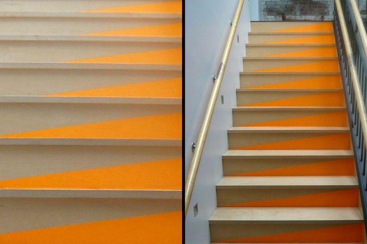 DIY: colorblock stair risers