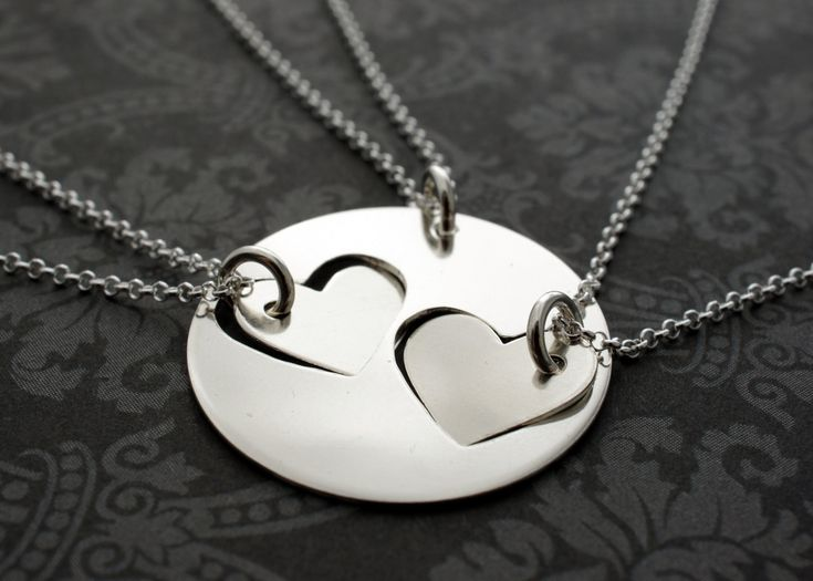 Mother & 2 Daughters Necklace Set Hand Cut by EclecticWendyDesigns, $110.00