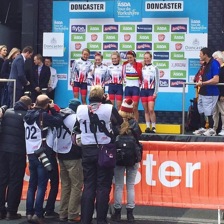 Brilliant morning watching the #tourdeyorkshire women's race finish in Doncaster. So great to see women's cycling growing like it is - some amazing talent and a nail biting last few km in today's race! Well done team GB and huge congrats to Karen Wild  #womenscycling #cycling