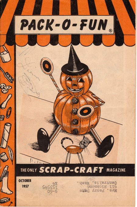 grandma always had these on had we did lots of crafts vintage halloween magazine pack o fun childrens scrapcraft magazine - Halloween Magazines