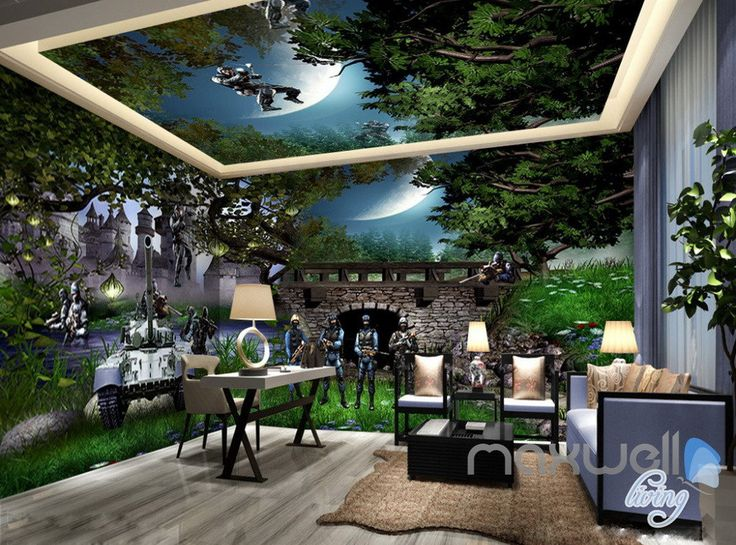 25 best ideas about 3d wall murals on pinterest wall for Army wallpaper mural