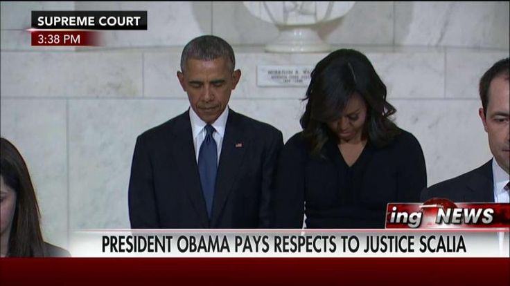 Obama pays respects to Judge Scalia