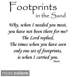 Prayer Footprint Sand Poem Printable | Like Success