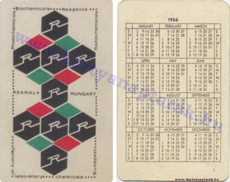 1966 - 1966_0103 - Régi magyar kártyanaptárak