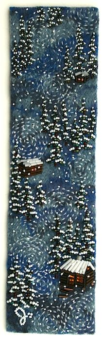 Snow In the Woods by Jo Wood (done with beads & fabric)