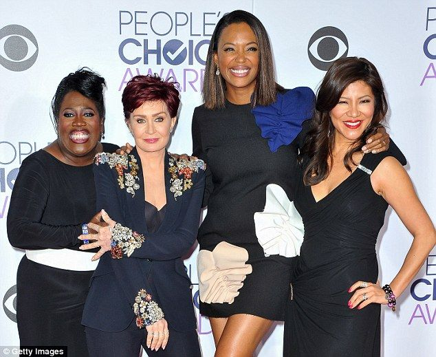 Talk show: Tyler is shown in January with co-hosts Sheryl Underwood, Sharon Osbourne and J...