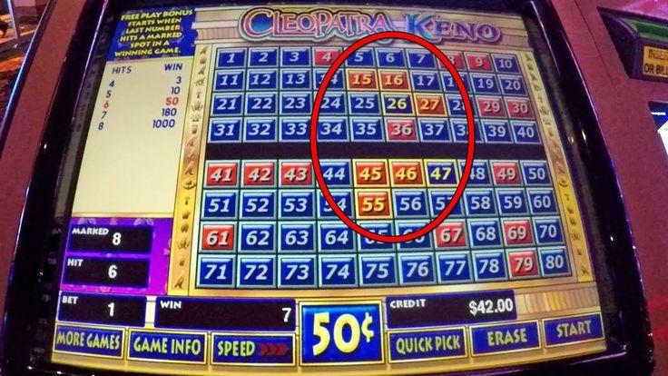 Cleopatra keno winning numbers live play made profit