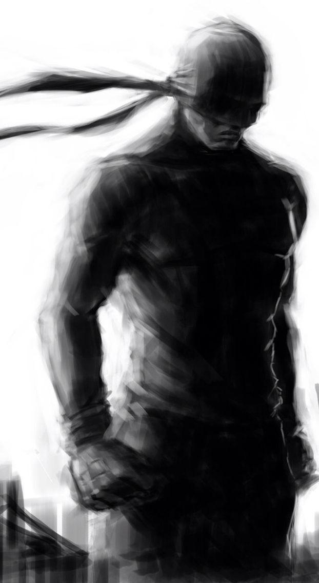 Daredevil from netflix series, fan art from Deviantart