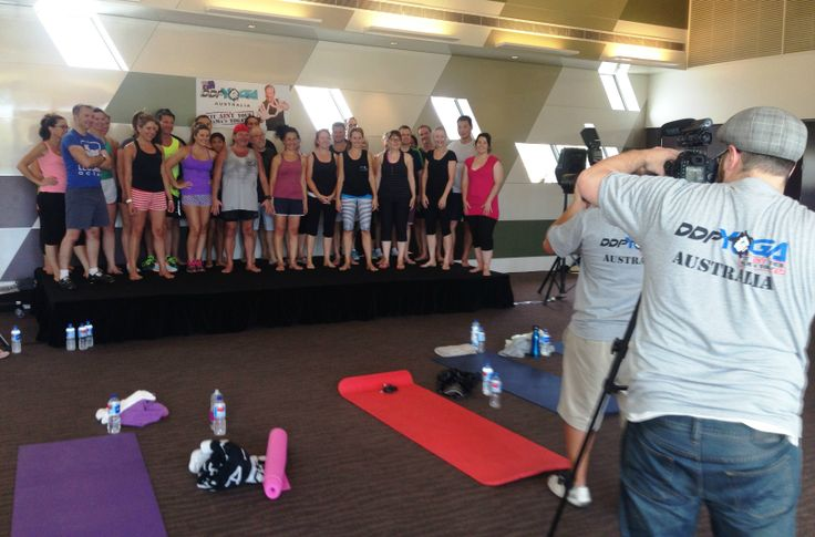 Another behind-the-scenes. Shooting the Open Day for #DDPYoga in Caulfield. #Yoga