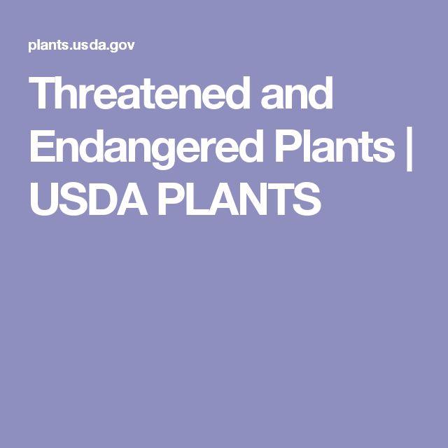 Threatened and Endangered Plants | USDA PLANTS