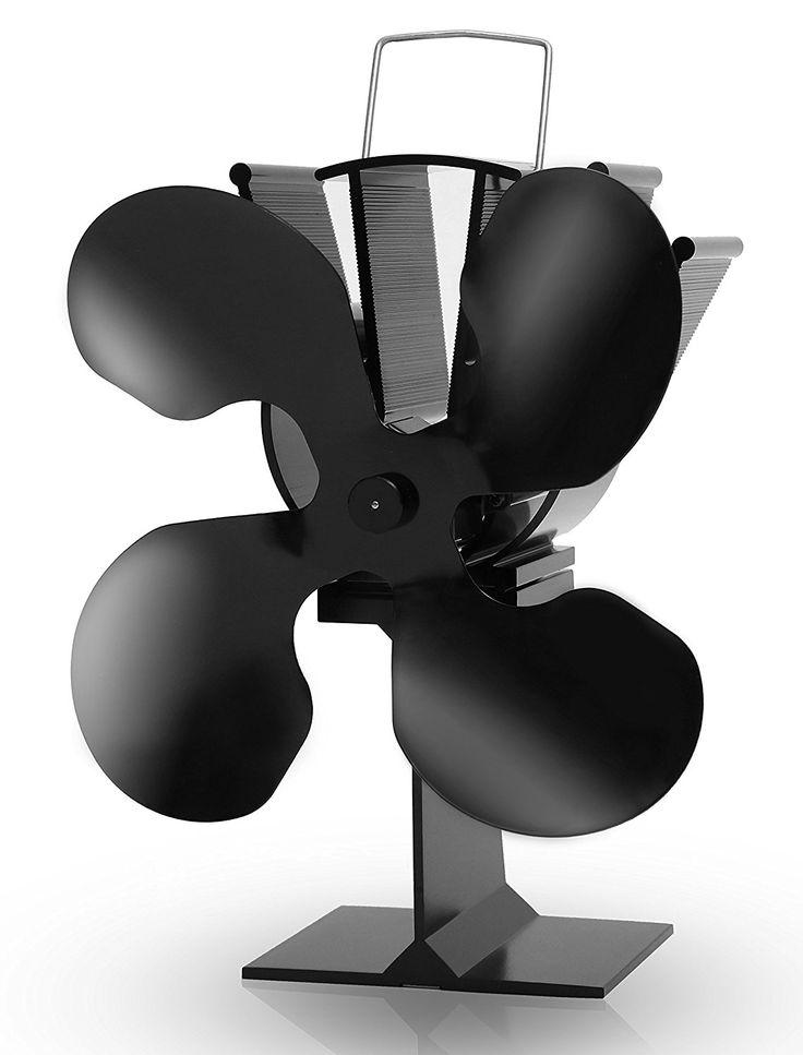 Aobosi Fireplace Heat Powered Wood/Log Stove Fan for Log Burning Fireplaces HL-800A 4 Blades: Amazon.co.uk: DIY & Tools