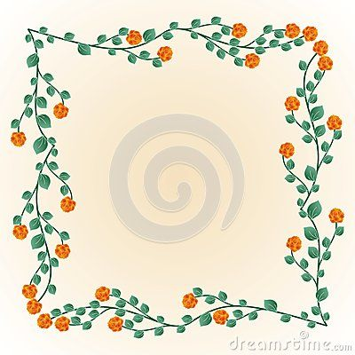 #Decorative #frame with #roses and #leaves