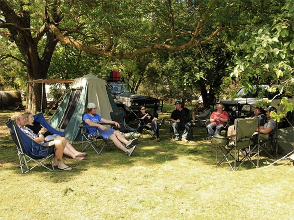 Camping is so much fun with a group, enjoy our big shaded trees in summer